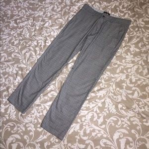 Striped Checkered Dress Pants